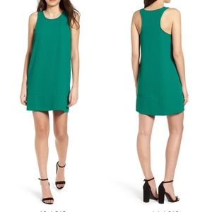 LEITH RACERBACK SHIFT DRESS (GREEN)
